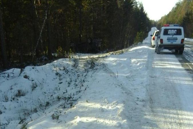 ВБурятии нетрезвый шофёр Land Cruiser опрокинулся надороге